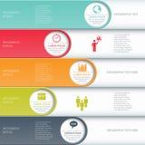 Modern business infographics options banner. Stock Photo