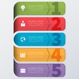 Modern business infographics options banner. Stock Photos