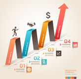 Modern business infographics origami arrow. Stock Photography