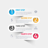 Modern business infographics template Royalty Free Stock Photography