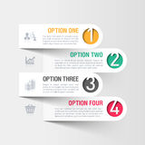 Modern business infographics template Stock Images