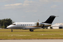 Modern business jet Stock Image
