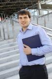 Modern business man Royalty Free Stock Photos