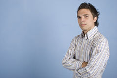 Modern business man with cool hairstyle stock photo