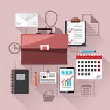 Modern business management elements Royalty Free Stock Photo