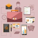 Modern business management elements Stock Images