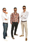 Modern business men posing Stock Images