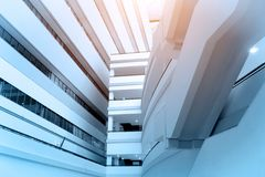 Modern business office buildings low angle view for financial or. Economics Concepts background Royalty Free Stock Photo