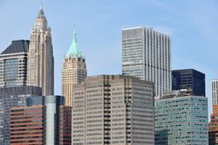 Modern Business Office Buildings. In Manhattan, New York City Royalty Free Stock Images