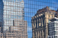 Office Buildings Reflecting Royalty Free Stock Images