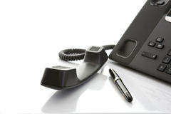 Modern Business Office IP Telephone stock photography