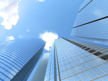 Modern business office skyscrapers, Royalty Free Stock Photo
