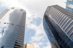 Modern business office skyscrapers at Sheung Wan Hong Kong with blue sky Royalty Free Stock Image