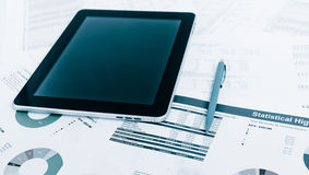 Modern business office workplace technology concept Stock Photos