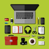 Modern business office workplace Stock Image