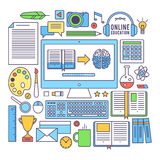 Modern business office and workspace Royalty Free Stock Photos