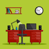 Modern business office workspace Royalty Free Stock Images
