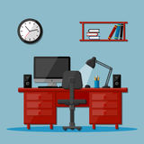 Modern business office workspace Stock Photography