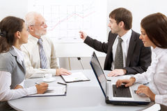 Modern business people Royalty Free Stock Photos