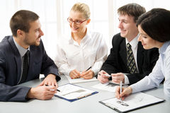 Modern business people Stock Photo