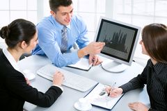 Modern business people Stock Images