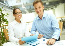Modern business people Royalty Free Stock Images