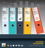 Modern business ring binders illustration steps to success. Stock Photo