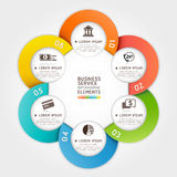 Modern business service circle origami style. royalty free illustration