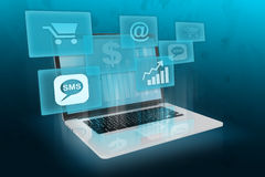 Modern business and shopping online. Royalty Free Stock Photo