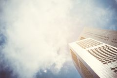 Modern business skyscrapers with high buildings, architecture to the sky. Royalty Free Stock Photo