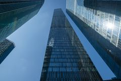 Modern business skyscrapers, high-rise buildings, architecture r Stock Photos