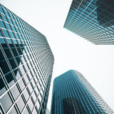 Modern business skyscrapers, high-rise buildings, architecture raising to the sky. Concepts of financial, economics. 3d. Modern business skyscrapers, high-rise Stock Image