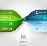 Modern business spiral infographics banner. Stock Image