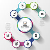 Modern business spiral infographics option. Abstract Vector illustration Royalty Free Stock Photos