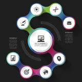 Modern business spiral infographics option. Abstract Vector illustration Stock Photography