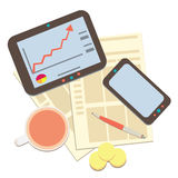 Modern business and statistics 2 Stock Image