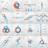 Modern business step origami style options banner. Vector illustration Stock Photos