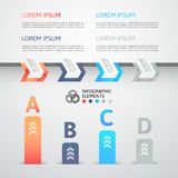 Modern business step origami style options banner Royalty Free Stock Photo