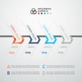 Modern business step origami style options banner. Vector illustration Stock Photo