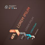 Modern business step origami style options banner Royalty Free Stock Photos