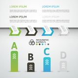 Modern business step origami style options banner Stock Photography