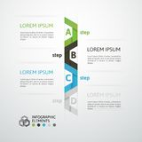 Modern business step origami style options banner. Vector illustration Royalty Free Stock Photos