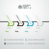 Modern business step origami style options banner Royalty Free Stock Images