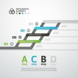 Modern business step origami style options banner Stock Photos