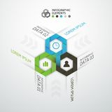 Modern business step origami style options banner. Vector illustration Stock Photography