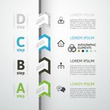 Modern business step origami style options banner. Vector illustration Royalty Free Stock Photography