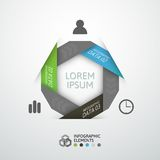Modern business step origami style options banner. Vector illustration Royalty Free Stock Image
