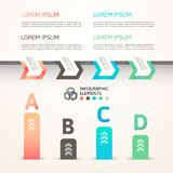 Modern business step origami style options banner. Vector illustration Stock Image