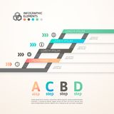 Modern business step origami style options banner. Vector illustration Stock Images
