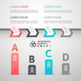 Modern business step origami style options banner Stock Photo